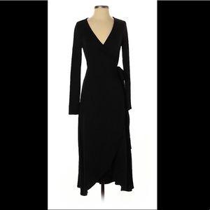 Gap black wrap dress